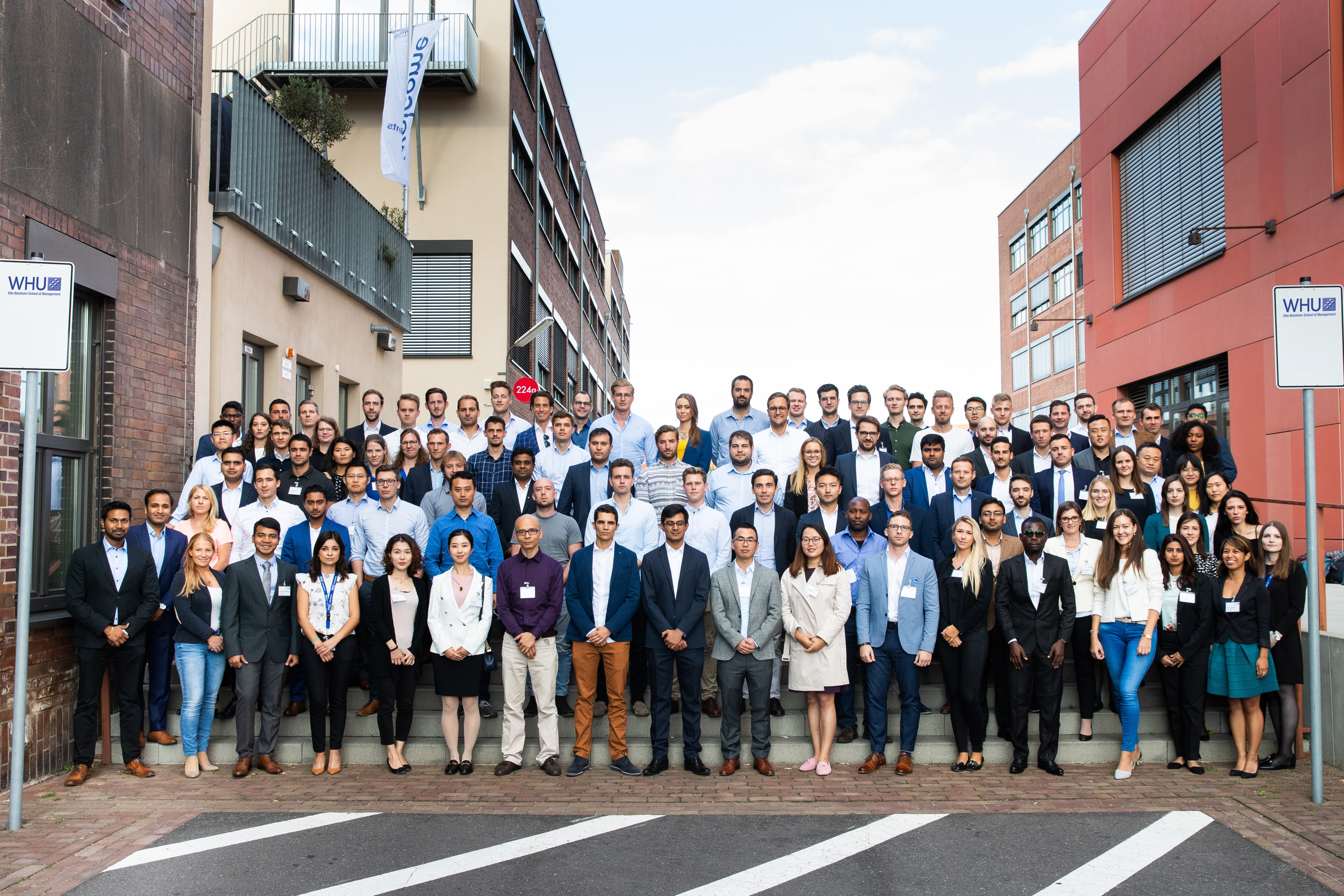 MBA Students group picture