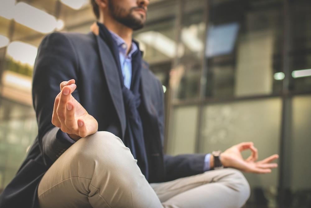meditating at work