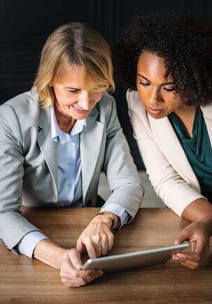 woman working together